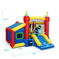 Inflatable Bounce House Kids Slide Jumping Castle Without Blower