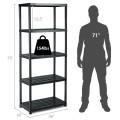 5-Tier Storage Shelving Freestanding Heavy Duty Rack