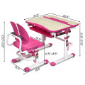 Height Adjustable Kids Study Desk and Chair Set