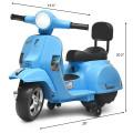 6V Kids Ride On Vespa Scooter Motorcycle for Toddler