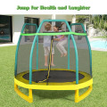 7 Feet Kids Trampoline with Safety Enclosure Net