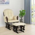 Baby Nursery Relax Rocker Rocking Chair Glider and Ottoman Set