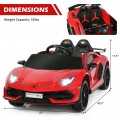 12 V Lamborghini Licensed Kids Ride-On Car with Trunk and Music Function