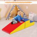 2 Pcs Soft Foam Indoor Toddler Climb Slide Activity Play Set