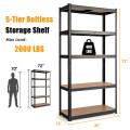 "35.5"" x 71"" Adjustable 5-Layer 2000 lbs Capacity Tool Shelf"