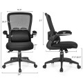 Ergonomic Desk Chair with Lumbar Support and Flip up Armrest