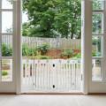 "24"" Folding Wooden Freestanding Pet Gate Dog Gate with 360° Hinge"