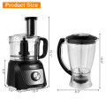 6 Cup Food Processor 500W Variable Speed Blender Chopper with 3 Blades