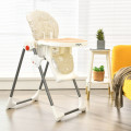 Folding Baby High Dining Chair with 6-Level Height Adjustment