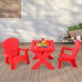 3-Piece Plastic Children Play Table Chair Set