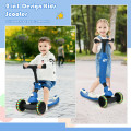 2 in 1 Kids Kick Scooter with Flash Wheels for Girls Boys from 1.5 to 6 Years Old