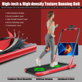 2-in-1 Folding Treadmill with Remote Control and LED Display