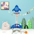 3-in-1 Basketball Hoop for Kids Adjustable Height Playset with Balls Blue