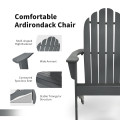 Wooden Outdoor Lounge Chair with Ergonomic Design for Yard and Garden