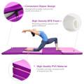 4 Inch x 8 Inch Folding Gymnastics Panel Mat with Handles Hook