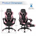 Adjustable Gaming Chair with Footrest for Home Office