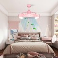"""23"""" Ceiling Fan with LED Light and Remote Control"""