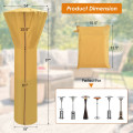 Patio waterproof heater cover with zipper and storage bag