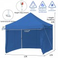 10x10 ft Pop up Gazebo with 4 Height and Adjust Folding Awning