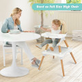 5-in-1 Baby Eat and Grow Convertible Wooden High Chair with Detachable Tray