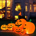 Halloween 7.5 Feet Inflatable Pumpkin Combo with Witch Black Cat