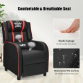 Massage Racing Gaming Single Recliner Chair