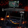 Ergonomic PC Computer Gaming Desk with Cup Holder Headphone Hook
