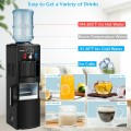 Freestanding Top Loading Water Dispenser with Built-In Ice Maker