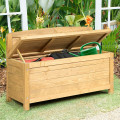 16.5 Gallon Wood Storage Bench Deck for Outdoor