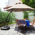 11 Feet Outdoor Cantilever Hanging Umbrella with Base and Wheels