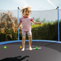 15 Ft Outdoor Bounce Trampoline with Safety Enclosure Net