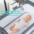 Height Adjustable Baby Side Crib  with Music Box & Toys