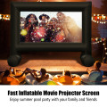 14-20 Feet Inflatable Outdoor Movie Projector Screen with Blower and Carrying Bag