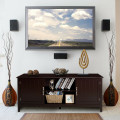 """Entertainment Wood TV Stand for Up to 65"""" Flat Screen with Storage Cabinets"""