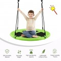 """40"""" 770 lbs Flying Saucer Tree Swing Kids Gift with 2 Tree Hanging Straps"""