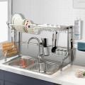 Stainless Steel Adjustable Dish Drainer Shelf