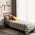 Metal Bed Frame Foundation with Headboard