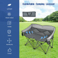 Folding Camping Chair with Bags and Padded Backrest