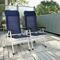 2Pcs Patio Dining Chair with Adjust Portable Headrest