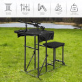 Foldable Shooting Bench with Adjustable Height Table