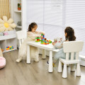 3-Piece  Multi Activity Kids Play Table and Chair Set