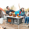 Height Adjustable Folding Camping  Table