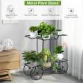 6-Tier Garden Cart Flower Rack Display Decor Pot Plant Holder