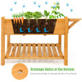 Elevated Planter Box Kit with 8 Grids and Folding Tabletop