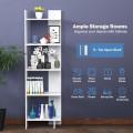 5-tier Freestanding Decorative Storage Display Bookshelf