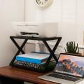 Desktop Printer Stand 2 Tiers Storage Shelves with Anti-Skid Pads