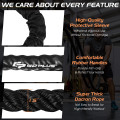 """30FT/40FT/50FT 1.5"""" Diameter Exercise Rope with Anchor Strap Kit"""