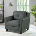 Upholstered Fabric Single Sofa Chair with Tufted Backrest