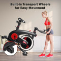 Stationary Exercise Bike Silent Belt with 20LBS Flywheel