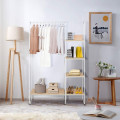 Clothes Rack Free Standing Storage Tower with Metal Frame